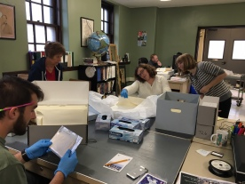 Visiting collections with Curator Jessica Cyders at the Southeast Ohio History Center